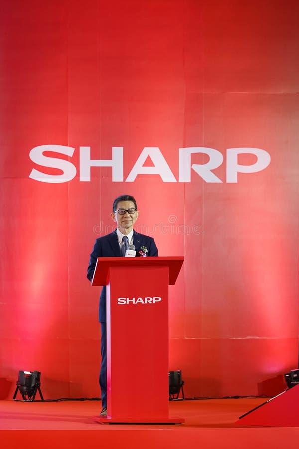 Sr. Yoshihiro Hashimoto, el jefe del ` s Office, Sharp Corporation Japón del presidente foto de archivo libre de regalías
