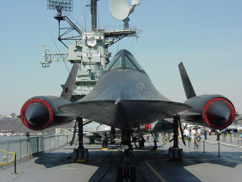 SR71 On The Intrepid royalty free stock photo