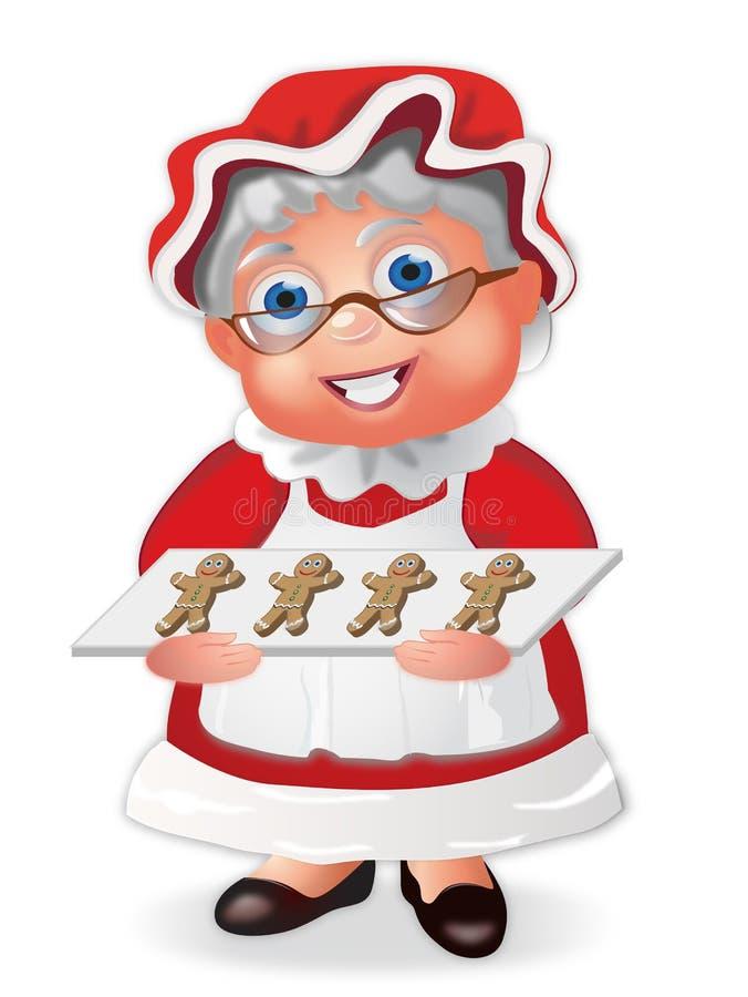 Sra. Claus ilustração royalty free