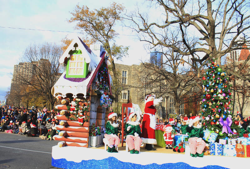 Sra. Papai Noel na parada do Natal em Toronto foto de stock