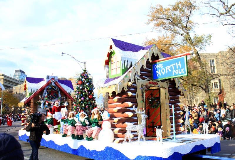 Sra. Papai Noel na parada do Natal em Toronto imagem de stock