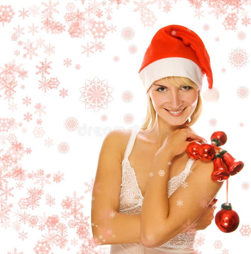 Sra. Santa com decoração fotos de stock royalty free
