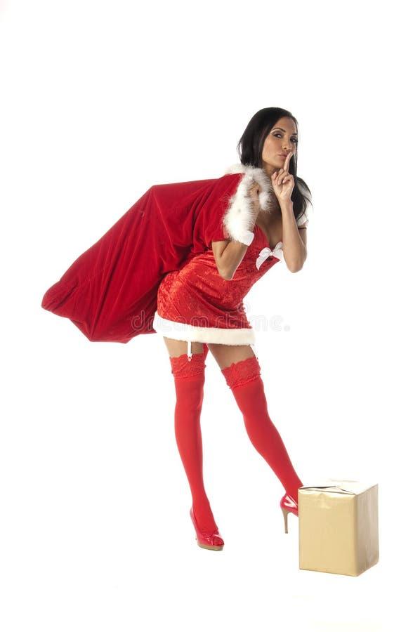 Sra. 'sexy' Santa Sush foto de stock royalty free