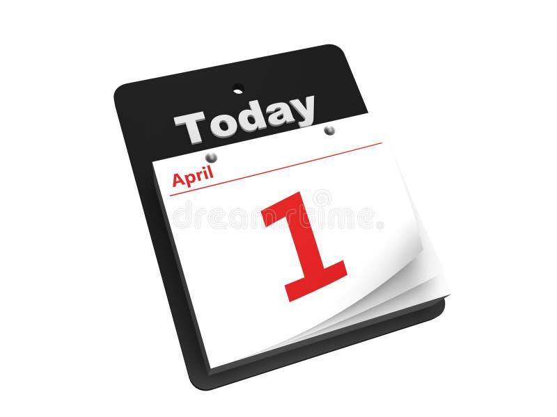 Sradichi il calendario di giorno illustrazione di stock