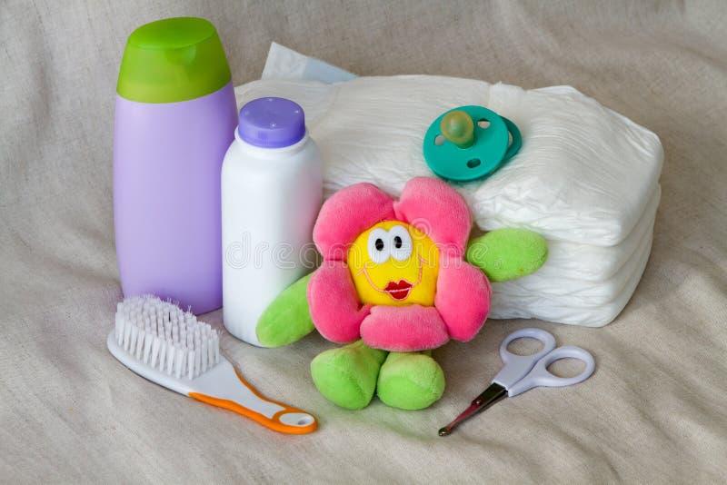 Sraff do cuidado do bebê foto de stock