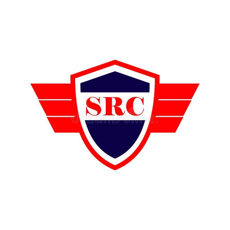 SRC logo szablonu projekta Wektorowa ilustracja ilustracja wektor
