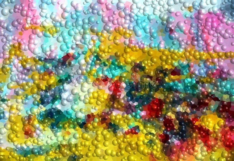 Srebna błękitnej zieleni złota szarość gulgocze tło, abstrakcjonistyczna tekstura ilustracja wektor