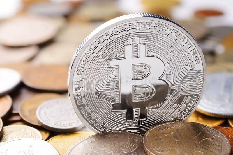 Srebna Bitcoin wymiana zdjęcia stock