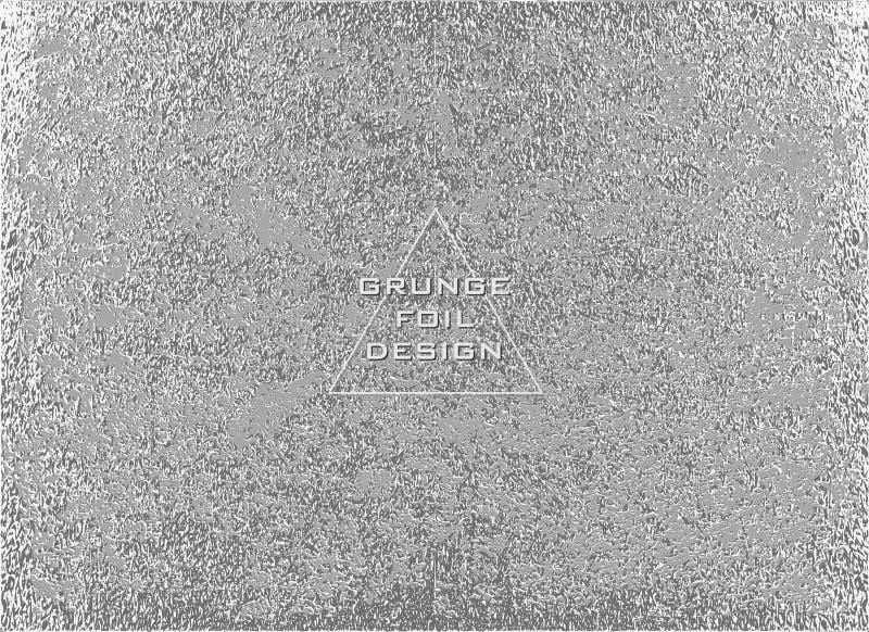 Srebna glansowana tekstura wzór metaliczny Argent Grunge tło royalty ilustracja