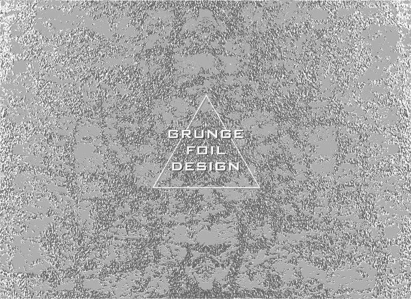 Srebna glansowana tekstura wzór metaliczny Argent Grunge tło ilustracji