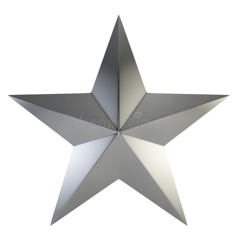 Srebna gwiazda ilustracja wektor