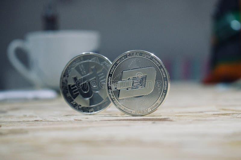 Srebna junakowanie moneta obraz royalty free