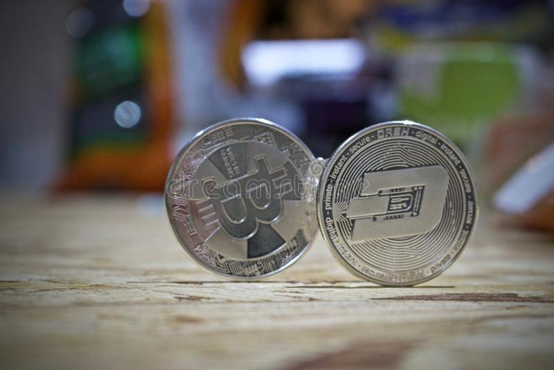 Srebna junakowanie moneta obraz stock