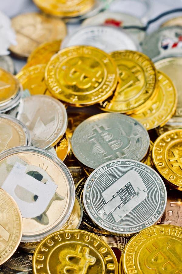 Srebna junakowanie moneta zdjęcia royalty free