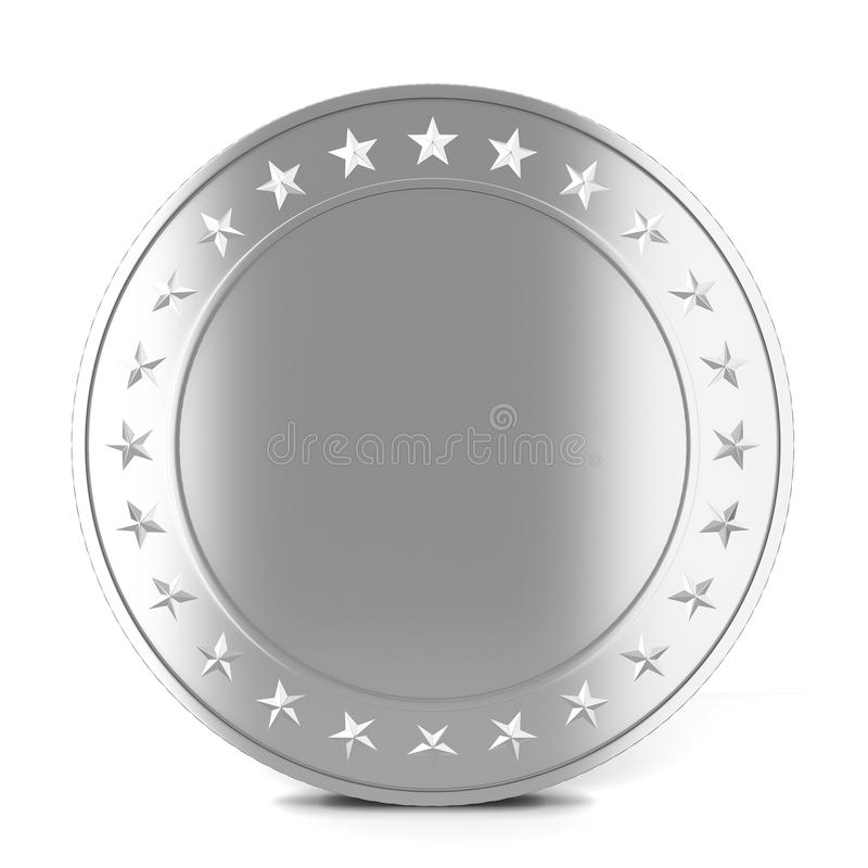Srebna moneta ilustracja wektor