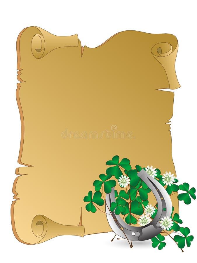 Srebna podkowa royalty ilustracja
