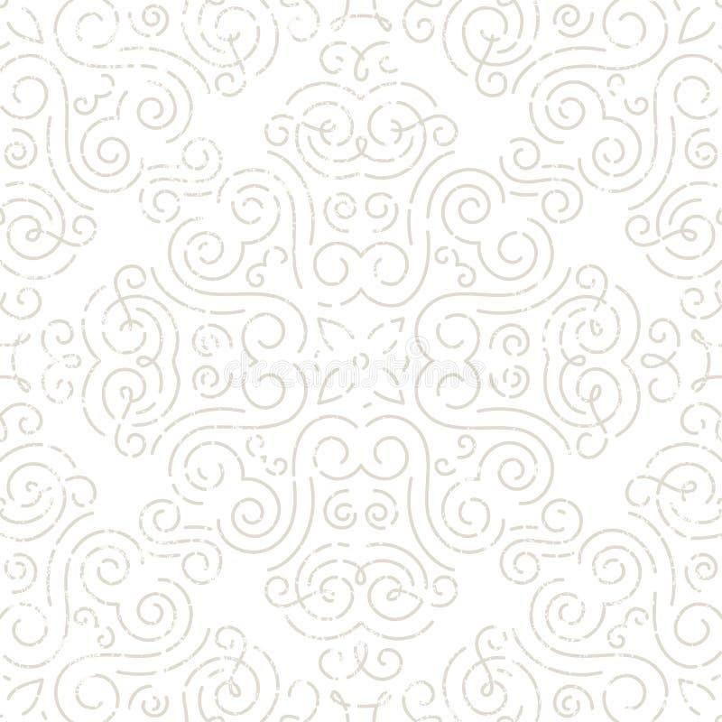 Srebna rocznik tapeta ilustracja wektor