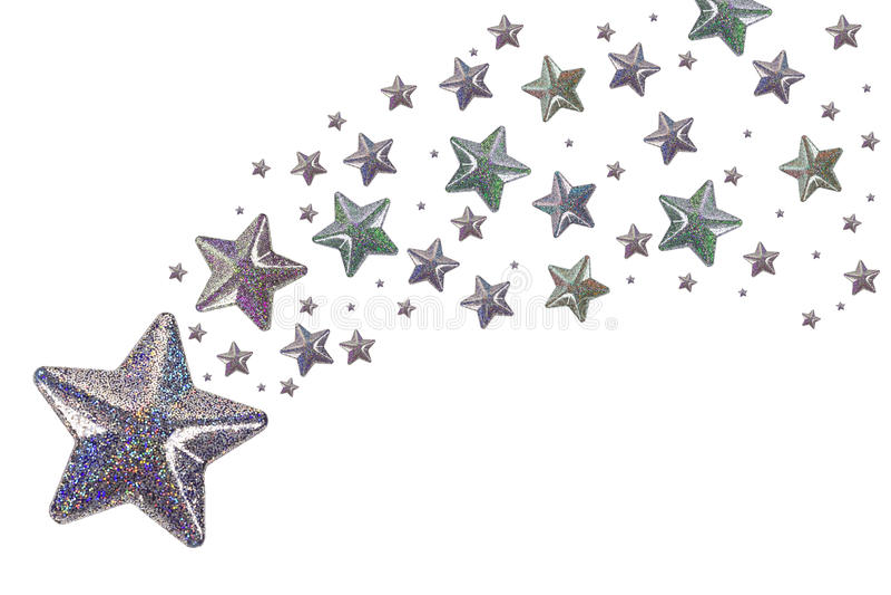srebne gwiazdy zdjęcie royalty free