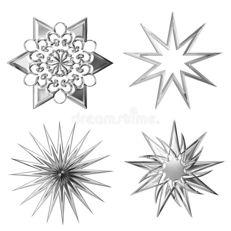 srebne gwiazdy ilustracja wektor