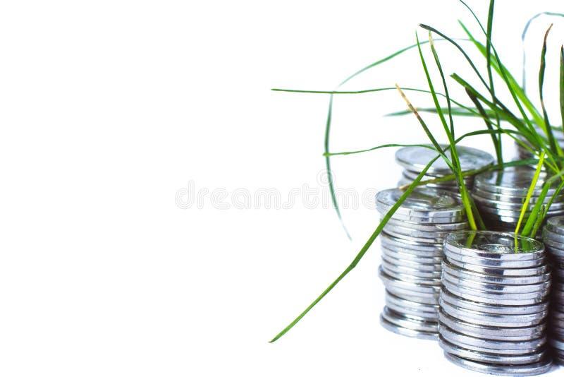 Srebne monety, finanse zdjęcie royalty free