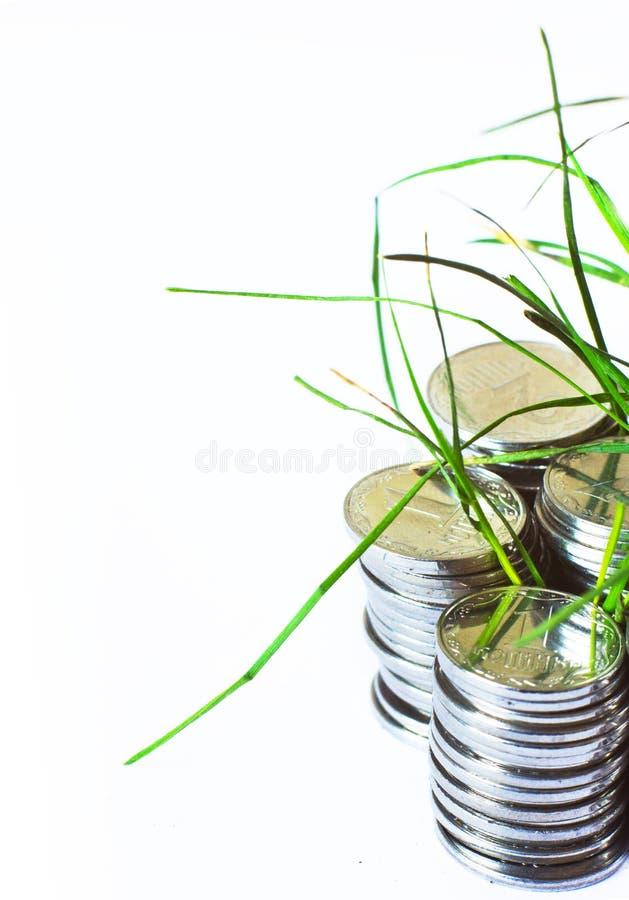 Srebne monety, finanse fotografia stock