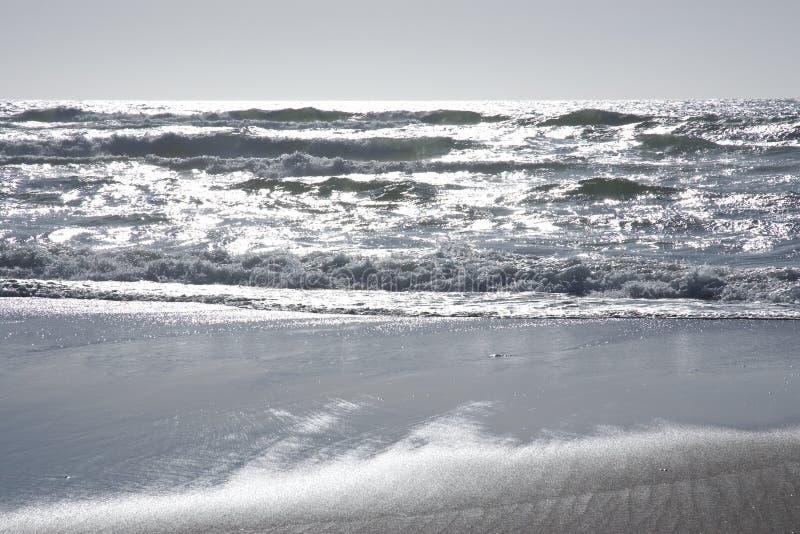 srebne ocean fala obraz royalty free