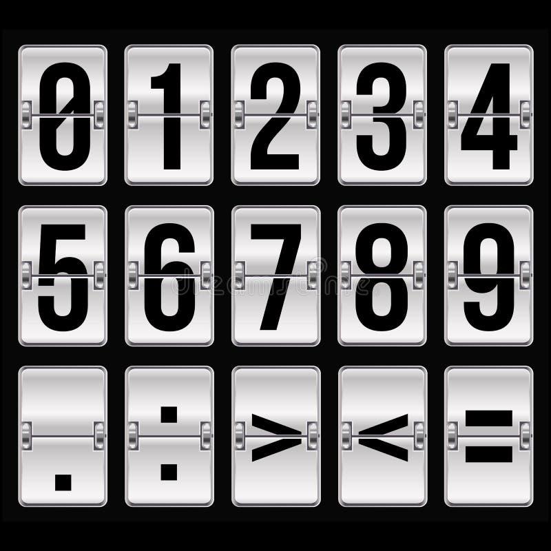 Srebne rozkład zajęć liczby ilustracja wektor