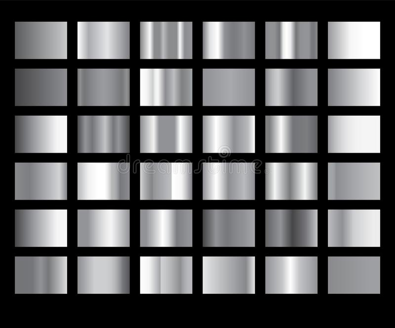Srebnej gradientowej tło ikony wektorowej tekstury kruszcowa ilustracja Realistycznego abstrakcjonistycznego projekta bezszwowy w ilustracja wektor