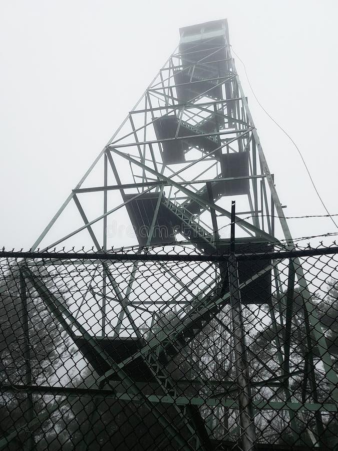Srebnej zatoczki Pożarniczy wierza obraz royalty free