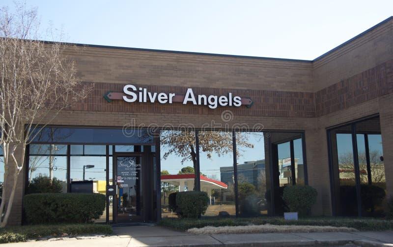 Srebni aniołowie Memphis, Tennessee obraz stock