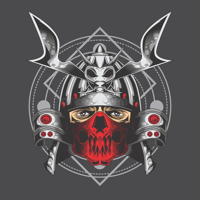 Srebni samurajowie royalty ilustracja