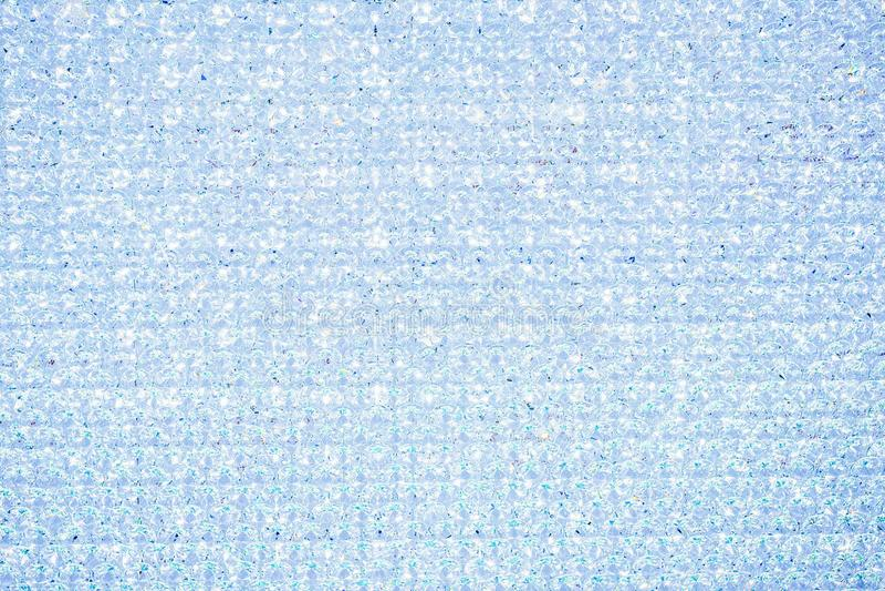 Srebny błękitny krystaliczny błyskotliwości tekstury tło Glittery błyszczący światła obraz stock