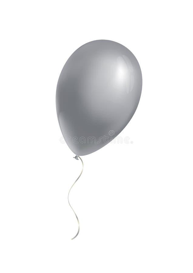 Srebny balon ilustracja wektor