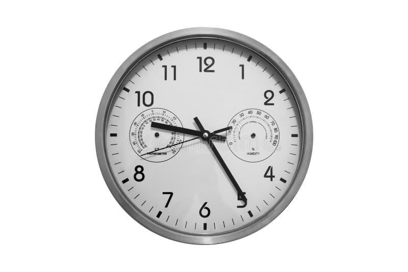 Srebny biuro zegaru antepedium widok zdjęcia royalty free