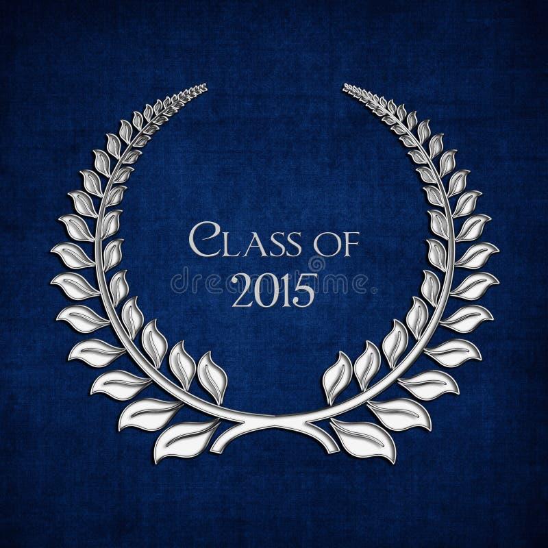Srebny bobek dla klasy 2015 ilustracja wektor