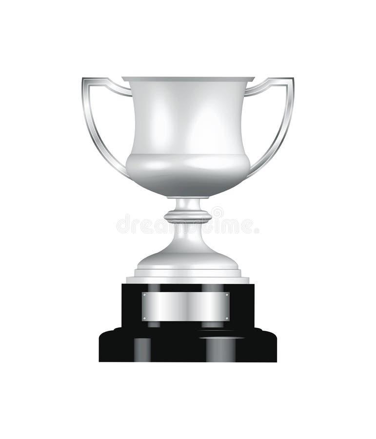 srebny filiżanki trofeum ilustracja wektor
