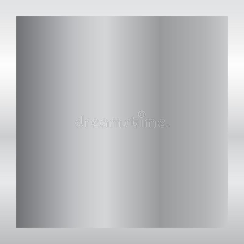 Srebny gradientowy tło Srebna projekt tekstura dla faborku, rama, sztandar Abstrakta srebny gradientowy szablon Metal royalty ilustracja
