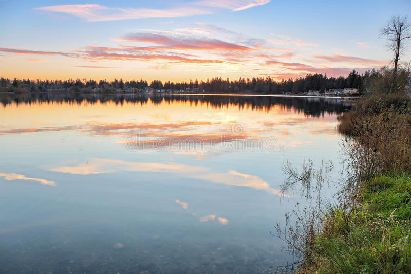 Srebny jezioro zdjęcie royalty free