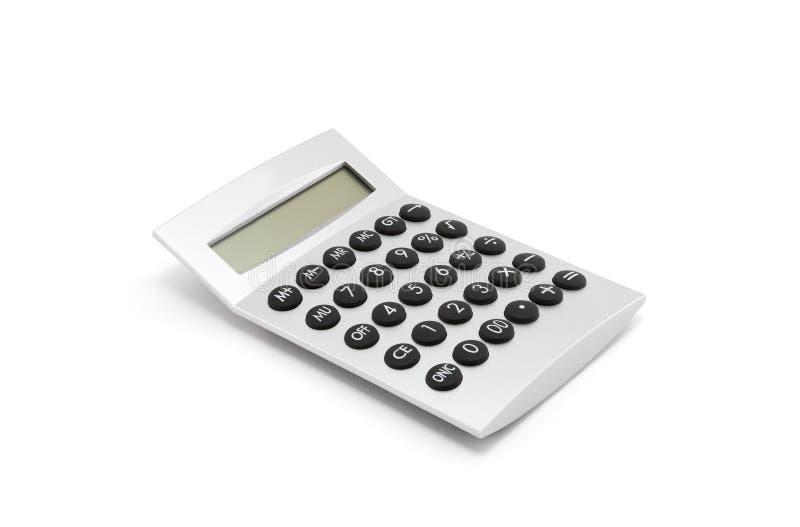 Srebny kalkulator na bielu zdjęcie stock