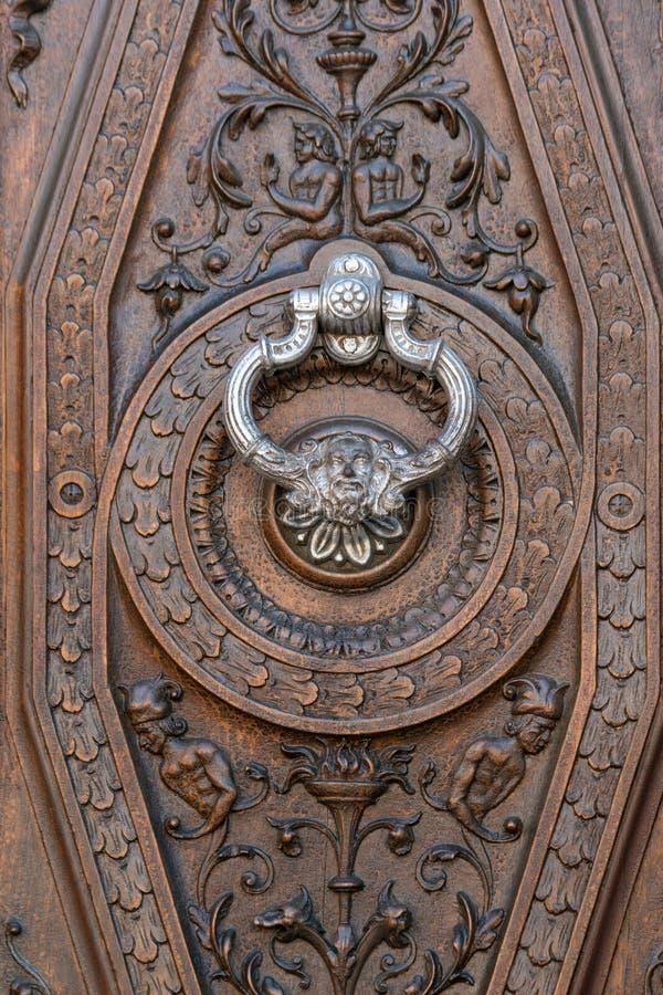 Srebny knocker zdjęcie stock