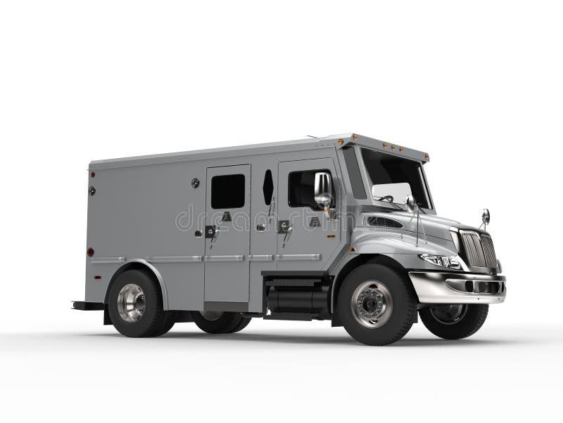 Srebny opancerzony gotówka transportu samochód - piękno strzał ilustracja wektor