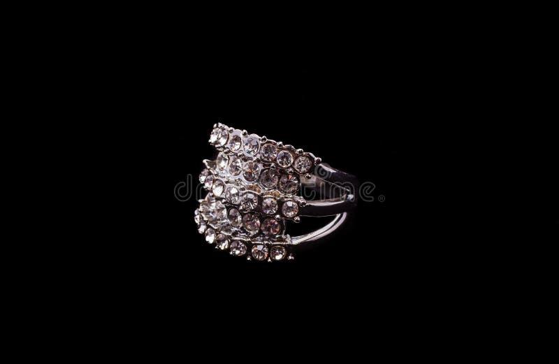Srebny pierścionek obrazy royalty free