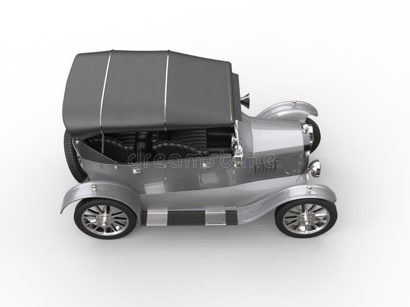 Srebny rocznika kabrioletu samochód ilustracji