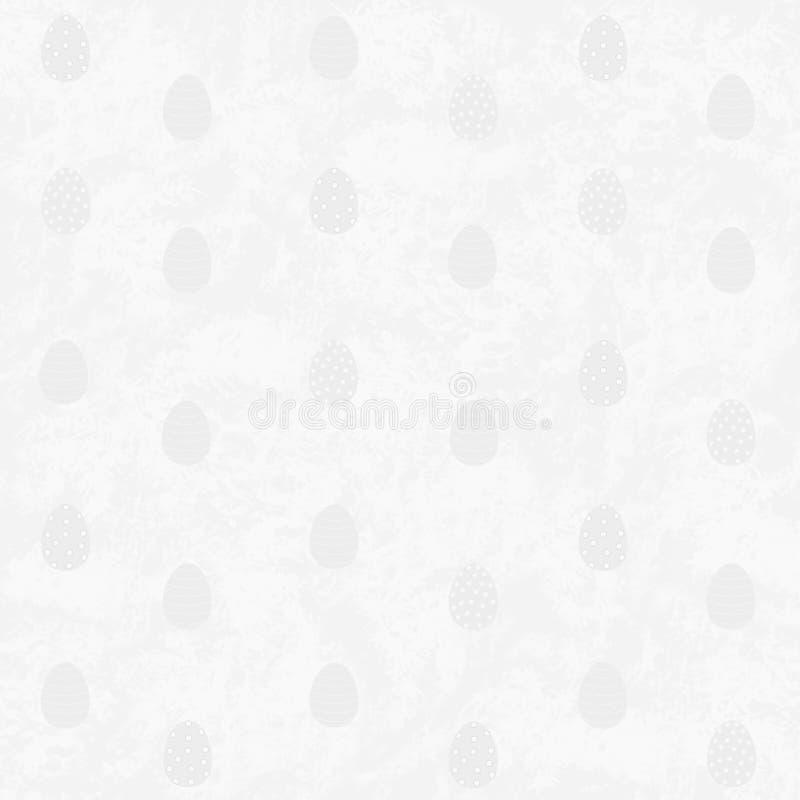 Srebny Wielkanocnych jajek brzmienie na brzmieniu na srebnym tle royalty ilustracja