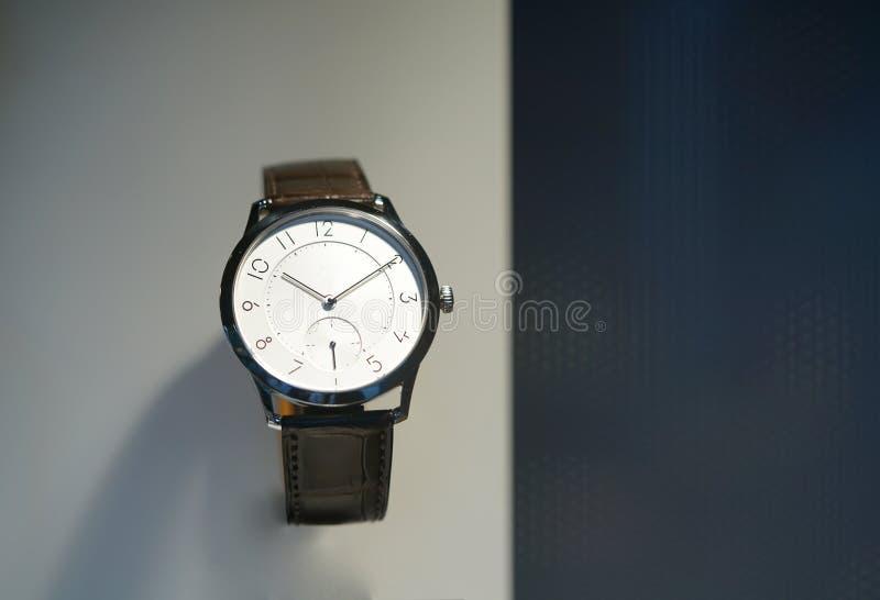 Srebny wristwatch obrazy stock