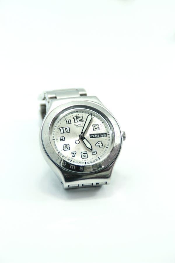 Srebny wristwatch