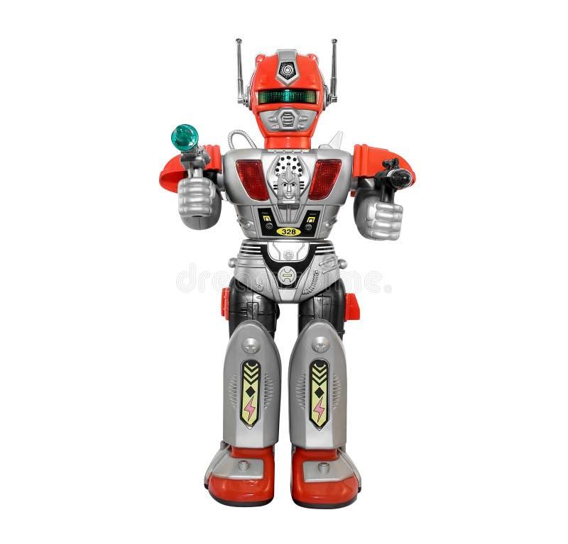 Srebny zabawkarski robot royalty ilustracja