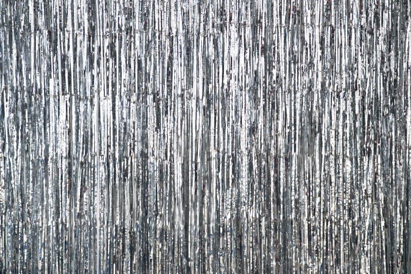Srebnych szarość błyskotliwość textured tła przyjęcia obrazy stock