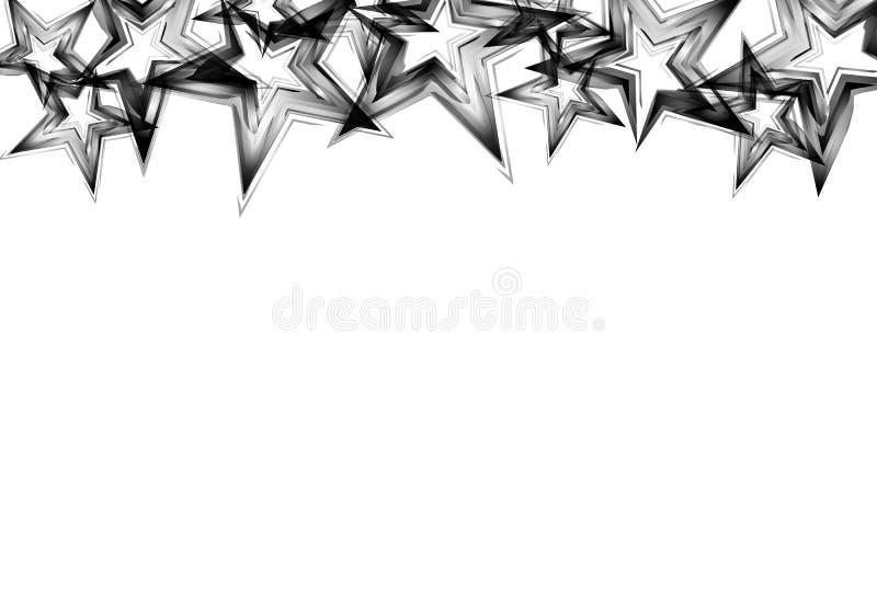 Srebra i metalu gwiazdy rozpraszają błyskotliwość połysku confetti celebratio royalty ilustracja