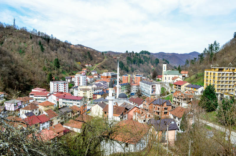 Srebrenica - Bosnia and Herzegovina. Small town in eastern Bosnia royalty free stock photography